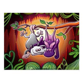 Oposum y palo en amor tarjeta postal
