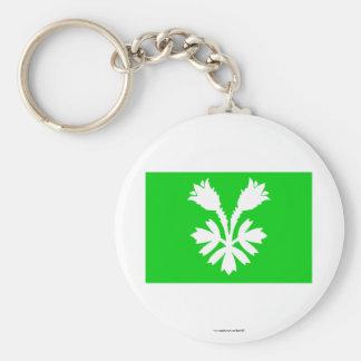 Oppland flag basic round button keychain