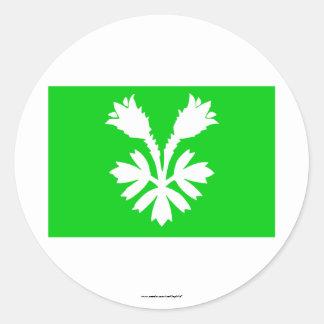 Oppland flag classic round sticker