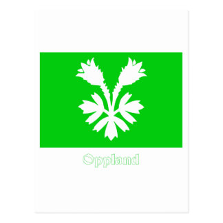 Oppland flag with name postcard