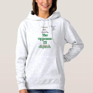 opponent dispatch tennis Hooded Sweatshirt