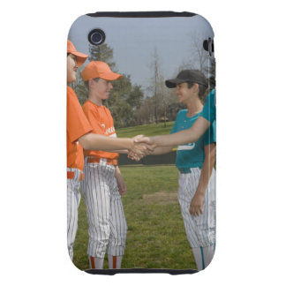 Opponents shaking hands iPhone 3 tough cases