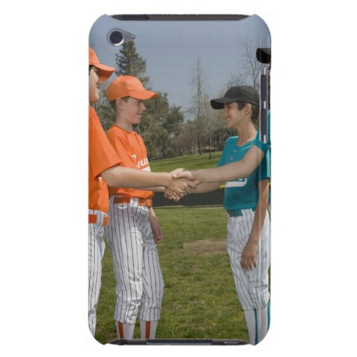 Opponents shaking hands iPod Case-Mate case