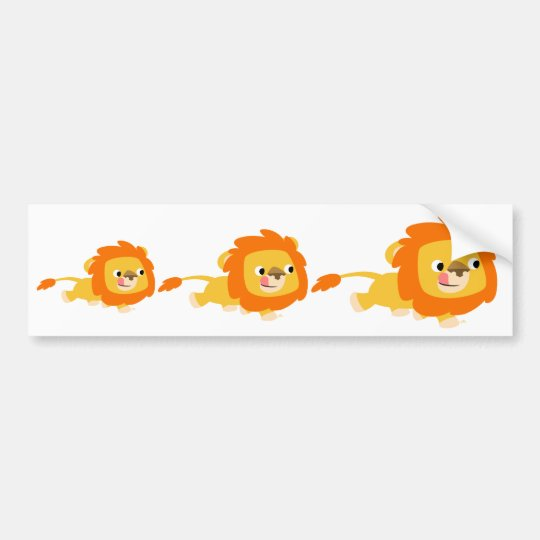 Opportunistic Cartoon Lion bumper sticker