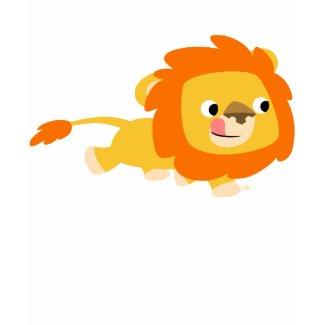 Opportunistic Cartoon Lion children T-shirt shirt