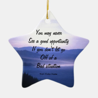 Opportunities and bad situation christmas tree ornament