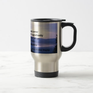 Opportunities and bad situation travel mug