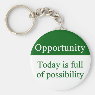 Opportunities fill life keychain