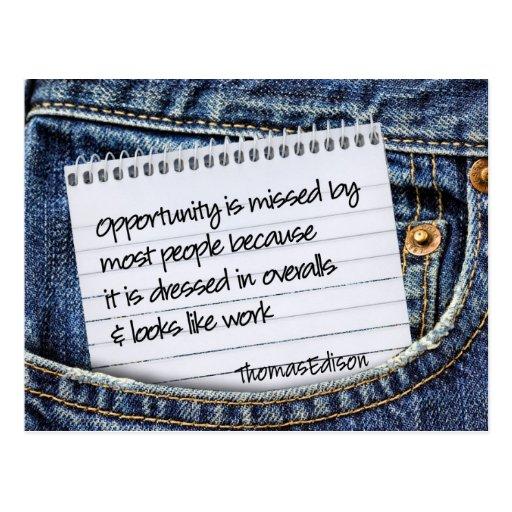 Opportunities Inspirational Postcard