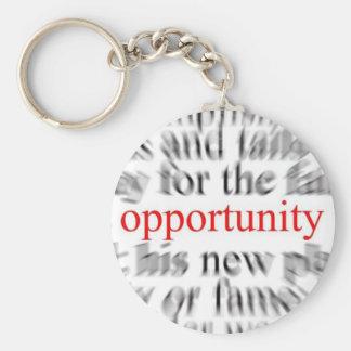 Opportunity Basic Round Button Keychain