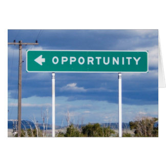 Opportunity Blank Card