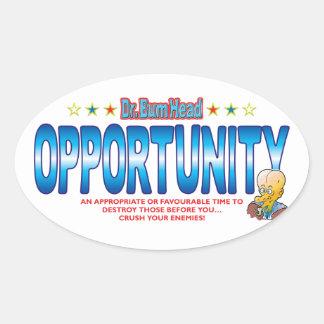 Opportunity Dr Bum Head.pdf Oval Sticker