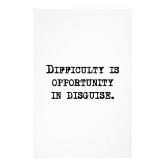 Opportunity In Disguise Stationery Design