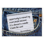 Opportunity Inspirational Greeting Note Card