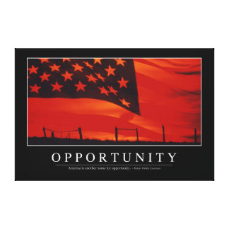 Opportunity: Inspirational Quote Canvas Print