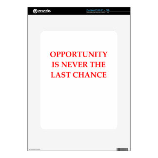 OPPORTUNITY iPad DECALS