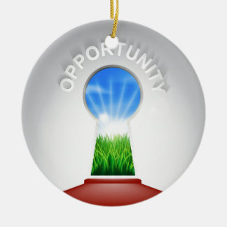 Opportunity Keyhole Concept Ceramic Ornament