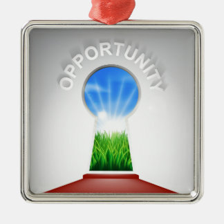 Opportunity Keyhole Concept Metal Ornament