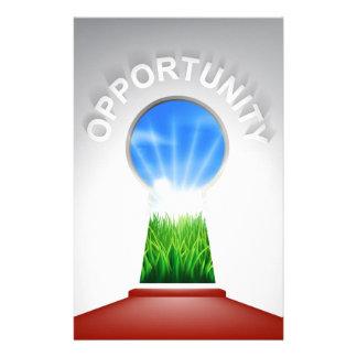 Opportunity Keyhole Concept Custom Stationery