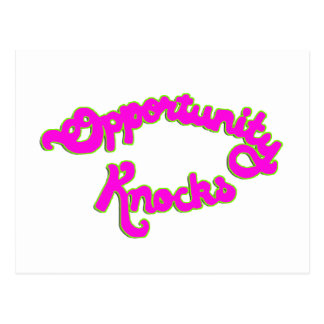 Opportunity Knocks Postcard
