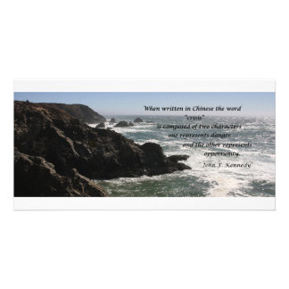 Opportunity, quote by John F. Kennedy Card