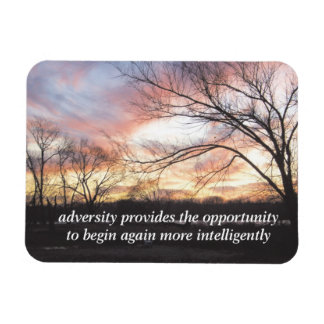 opportunity to begin again inspirational magnet