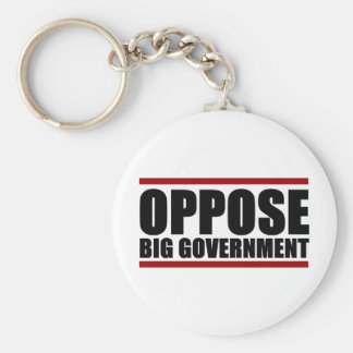 Oppose Big Government Basic Round Button Keychain