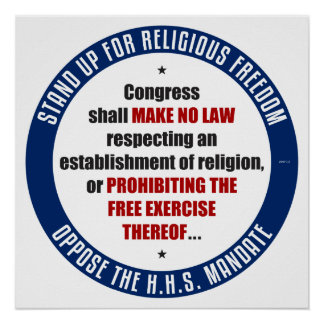 Oppose The HHS Mandate Poster