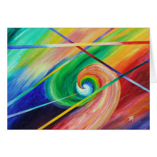 Opposite Attraction - abstract art Greeting Card