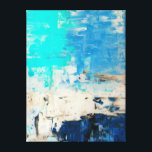 "&#39;Opposite&#39; Turquoise Abstract Art Canvas Print<br><div class=""desc"">Image created by T30 Gallery.</div>"