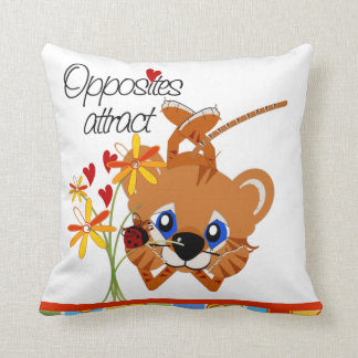 Opposites Attract American MoJo Pillow