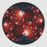 Opposites Attract - Fractal Art Classic Round Sticker