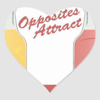 Opposites Attract Heart Sticker