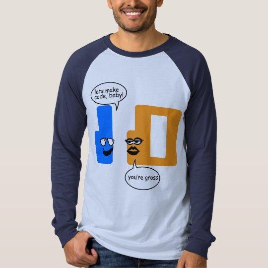 Opposites Attract Mens Raglan T-Shirt
