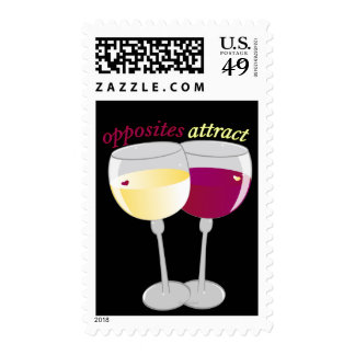 opposites attract postage stamp