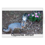 Opposites Attract Stationery Note Card