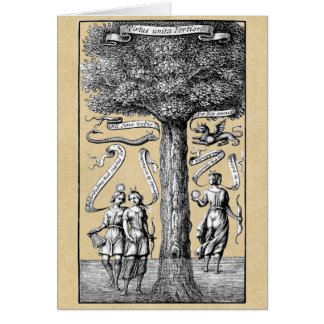 Opposites United by Conjunction in Alchemy Card
