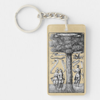 Opposites United by Conjunction in Alchemy Keychain