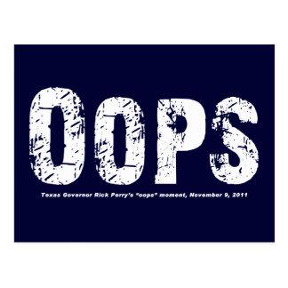 Opps - Tejas Govenor Rick Perry caminó en él Postales