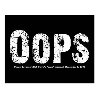 Opps - Texas Govenor Rick Perry Stepped In It Postcard