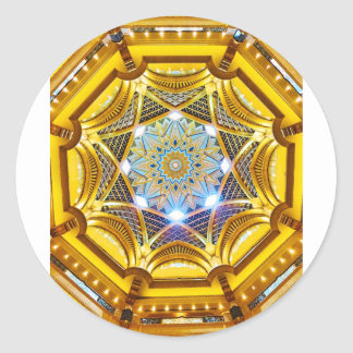 Oppulent Dome of the Emirates Palace Hotel Classic Round Sticker