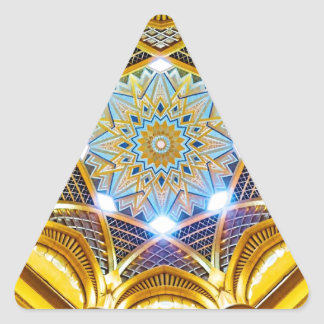 Oppulent Dome of the Emirates Palace Hotel Triangle Sticker