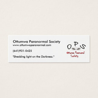 ops logo, Ottumwa Paranormal Society, www.ottum... Mini Business Card