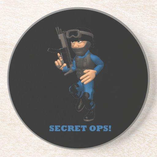 Ops secreto posavasos personalizados
