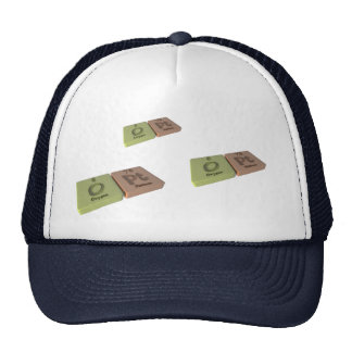 Opt as O Oxygen and Pt Platinum Trucker Hat