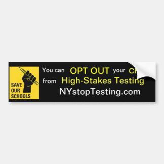 OPT HACIA FUERA Nueva York Pegatina Para Auto