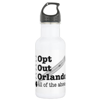 Opt Out Orlando - water bottle