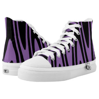 Opt-Swag Black & Amethyst Orchid Purple High Tops