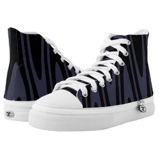 Opt-Swag Black & Reflecting Pond Blue High Tops