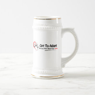 Opt To Adopt Beer Stein
